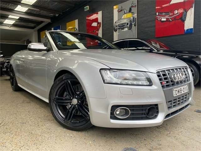 Used Audi S5 8T Glebe, 2010 Audi S5 8T Silver Sports Automatic Dual Clutch Cabriolet