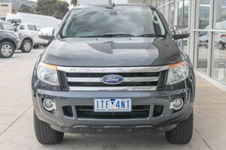 2013 Ford Ranger PX XLT Super Cab 4x2 Hi-Rider Grey 6 Speed Sports Automatic Utility.