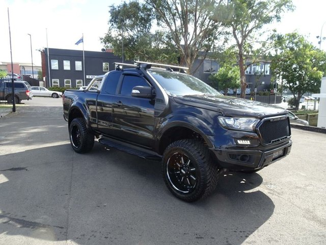 Used Ford Ranger PX MkII XLT Super Cab Nowra, 2017 Ford Ranger PX MkII XLT Super Cab Shadow Black 6 Speed Sports Automatic Utility