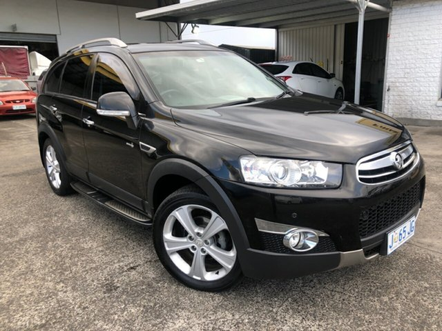 Used Holden Captiva CG Series II 7 SX Derwent Park, 2012 Holden Captiva CG Series II 7 SX Black 6 Speed Sports Automatic Wagon