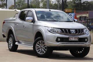 2018 Mitsubishi Triton MQ MY18 GLS Double Cab Silver 5 Speed Sports Automatic Utility