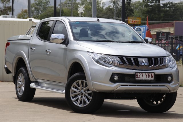 Used Mitsubishi Triton MQ MY18 GLS Double Cab Bundamba, 2018 Mitsubishi Triton MQ MY18 GLS Double Cab Silver 5 Speed Sports Automatic Utility