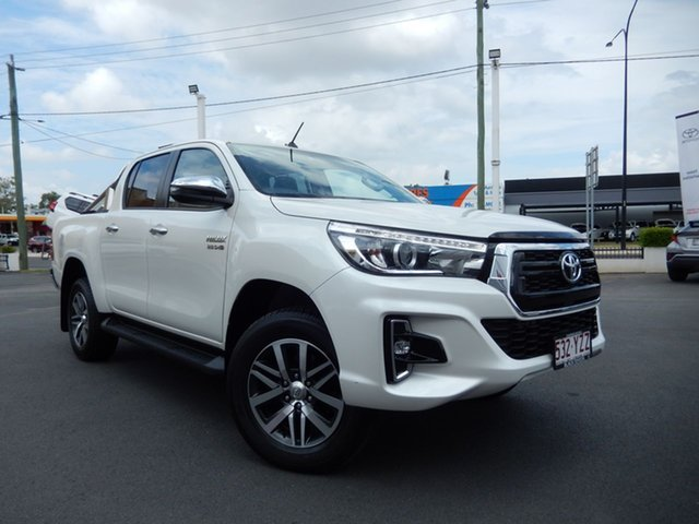 Pre-Owned Toyota Hilux GUN126R SR5 Double Cab Dalby, 2019 Toyota Hilux GUN126R SR5 Double Cab Crystal Pearl 6 Speed Sports Automatic Utility