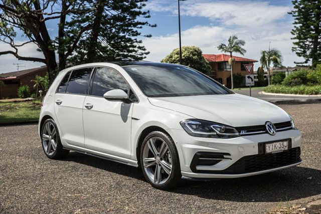 Used Volkswagen Golf 7.5 MY20 110TSI DSG Highline Port Macquarie, 2019 Volkswagen Golf 7.5 MY20 110TSI DSG Highline White 7 Speed Sports Automatic Dual Clutch