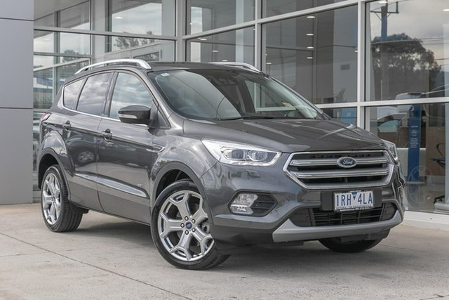 Used Ford Escape ZG 2019.25MY Titanium Ferntree Gully, 2019 Ford Escape ZG 2019.25MY Titanium Grey 6 Speed Sports Automatic SUV