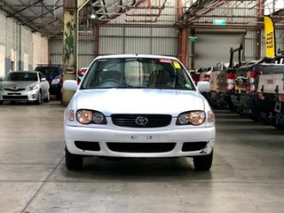 2001 Toyota Corolla AE112R Ascent White 4 Speed Automatic Liftback.