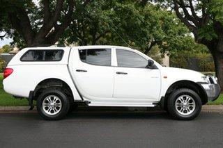 2009 Mitsubishi Triton ML MY09 GLX Double Cab White 4 Speed Automatic Utility