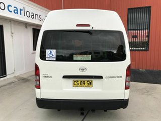 2013 Toyota HiAce TRH223R MY12 Commuter High Roof Super LWB White 4 Speed Automatic Bus