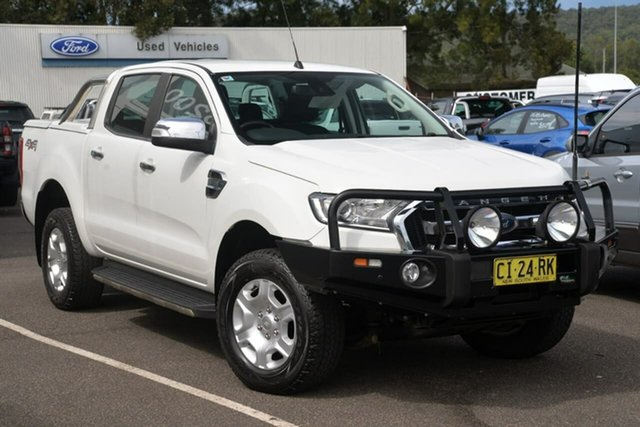 Used Ford Ranger PX MkII XLT Double Cab West Gosford, 2016 Ford Ranger PX MkII XLT Double Cab White 6 Speed Sports Automatic Utility