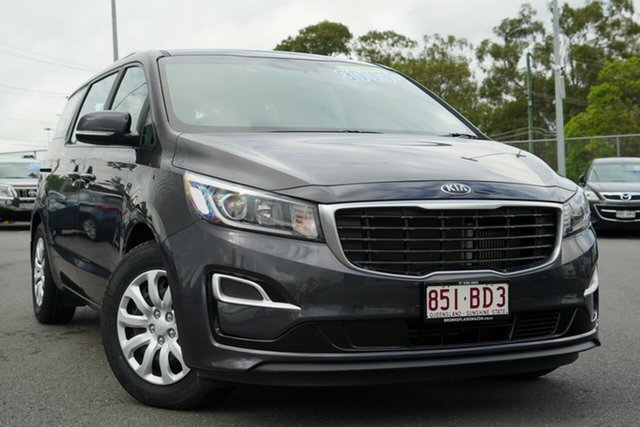 Used Kia Carnival YP MY19 S Hillcrest, 2018 Kia Carnival YP MY19 S Charcoal/cream 8 Speed Sports Automatic Wagon