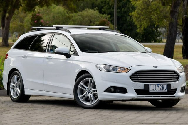 Used Ford Mondeo MD Ambiente Dandenong, 2016 Ford Mondeo MD Ambiente White 6 Speed Sports Automatic Dual Clutch Wagon