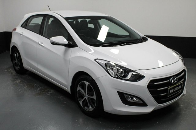 Used Hyundai i30 GD4 Series II MY16 Active X Cardiff, 2015 Hyundai i30 GD4 Series II MY16 Active X White 6 Speed Sports Automatic Hatchback