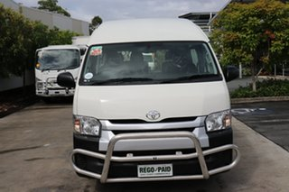 2017 Toyota HiAce TRH223R Commuter High Roof Super LWB French Vanilla 6 speed Automatic Bus.