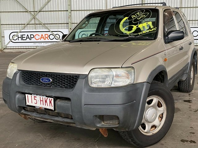 Used Ford Escape ZA XLS Rocklea, 2003 Ford Escape ZA XLS Gold 4 Speed Automatic SUV