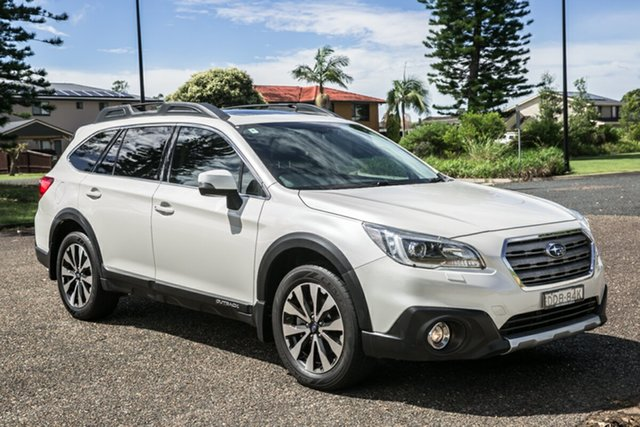 Used Subaru Outback B6A MY17 2.5i CVT AWD Premium Port Macquarie, 2016 Subaru Outback B6A MY17 2.5i CVT AWD Premium Pearl White 6 Speed Constant Variable Wagon