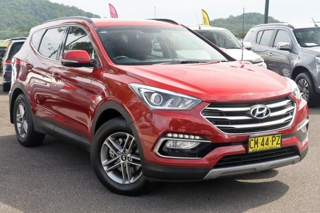 Used Hyundai Santa Fe DM3 MY17 Active West Gosford, 2017 Hyundai Santa Fe DM3 MY17 Active Red 6 Speed Sports Automatic Wagon