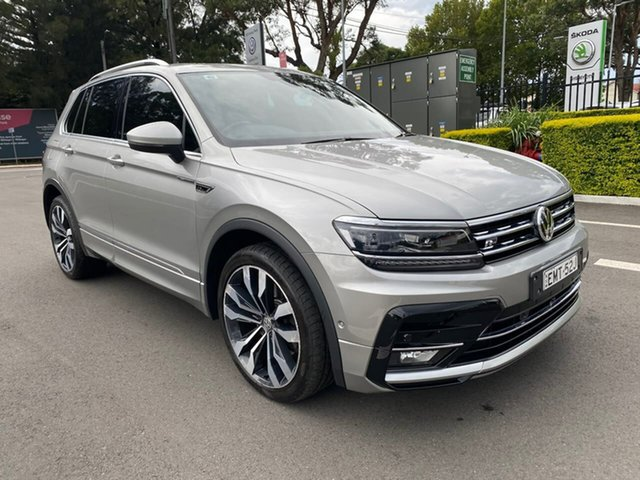 Used Volkswagen Tiguan 5N MY18 162TSI DSG 4MOTION Highline Botany, 2017 Volkswagen Tiguan 5N MY18 162TSI DSG 4MOTION Highline Silver 7 Speed