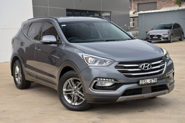 Used Hyundai Santa Fe DM5 MY18 Active Tuggerah, 2017 Hyundai Santa Fe DM5 MY18 Active Silver 6 Speed Sports Automatic Wagon