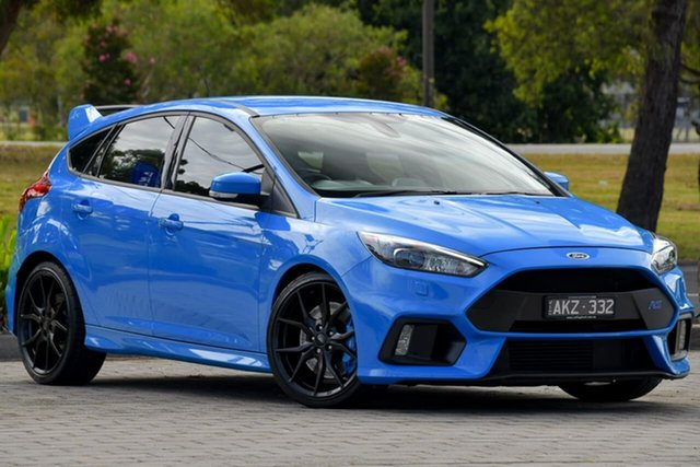 Used Ford Focus LZ RS AWD Dandenong, 2016 Ford Focus LZ RS AWD Blue 6 Speed Manual Hatchback