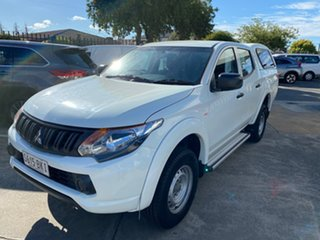 2016 Mitsubishi Triton MQ MY16 GLX Double Cab White 5 Speed Sports Automatic Utility