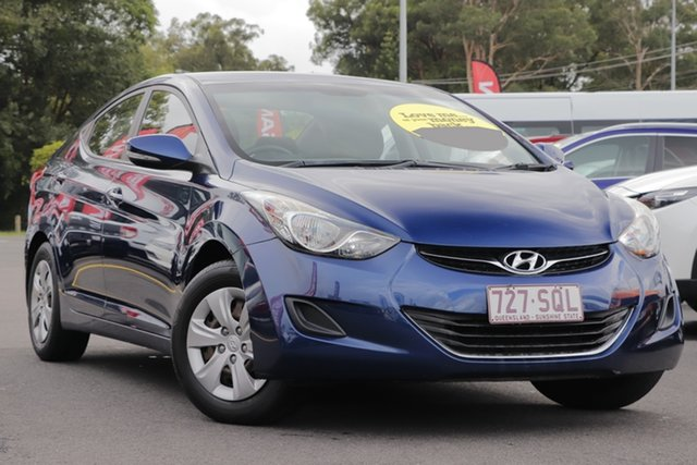 Used Hyundai Elantra MD Active Aspley, 2012 Hyundai Elantra MD Active Blue 6 Speed Sports Automatic Sedan