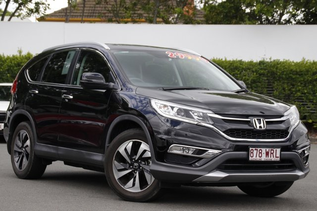 Used Honda CR-V RM Series II MY17 VTi-L 4WD Mount Gravatt, 2016 Honda CR-V RM Series II MY17 VTi-L 4WD Black 5 Speed Sports Automatic Wagon