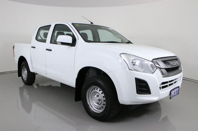 Used Isuzu D-MAX TF MY17 SX HI-Ride (4x2) Bentley, 2017 Isuzu D-MAX TF MY17 SX HI-Ride (4x2) White 6 Speed Automatic Crew Cab Utility