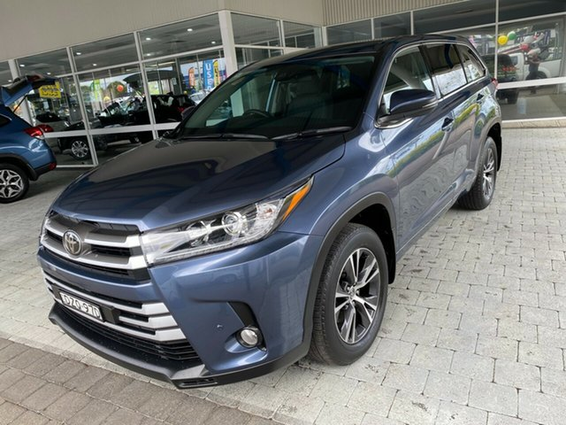 Used Toyota Kluger GX Taree, 2018 Toyota Kluger GX Blue Sports Automatic Wagon