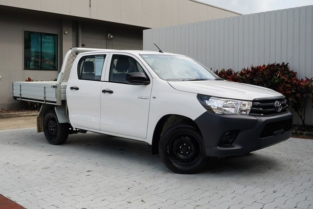 Used Toyota Hilux TGN121R Workmate Double Cab 4x2 Cairns, 2016 Toyota Hilux TGN121R Workmate Double Cab 4x2 6 Speed Sports Automatic Utility