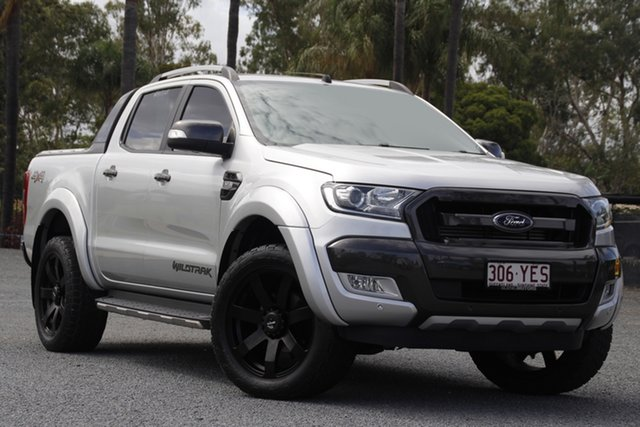 Used Ford Ranger PX MkII Wildtrak Double Cab Beaudesert, 2016 Ford Ranger PX MkII Wildtrak Double Cab Silver 6 Speed Sports Automatic Utility