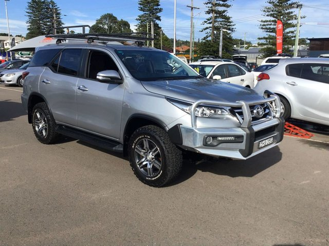 Pre-Owned Toyota Fortuner GUN156R GXL Cardiff, 2015 Toyota Fortuner GUN156R GXL Silver 6 Speed Automatic Wagon