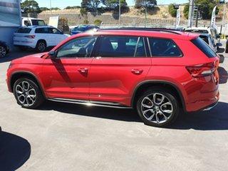 2020 Skoda Kodiaq NS MY20.5 RS DSG Red 7 Speed Sports Automatic Dual Clutch Wagon.