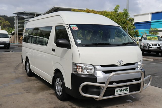 Used Toyota HiAce TRH223R Commuter High Roof Super LWB Robina, 2017 Toyota HiAce TRH223R Commuter High Roof Super LWB French Vanilla 6 speed Automatic Bus