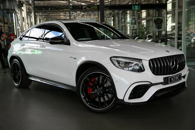 Used Mercedes-Benz GLC-Class C253 GLC63 AMG Coupe SPEEDSHIFT MCT 4MATIC+ S North Melbourne, 2018 Mercedes-Benz GLC-Class C253 GLC63 AMG Coupe SPEEDSHIFT MCT 4MATIC+ S White 9 Speed