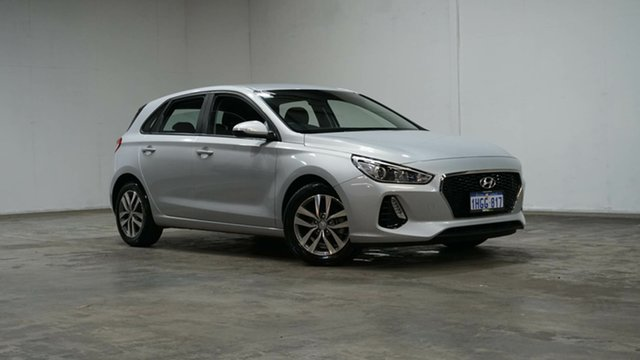 Used Hyundai i30 PD MY18 Active Welshpool, 2017 Hyundai i30 PD MY18 Active Silver 6 Speed Sports Automatic Hatchback