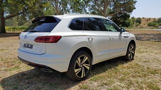 2020 Volkswagen Touareg CR MY21 210TDI Tiptronic 4MOTION R-Line Pure White 8 Speed Sports Automatic