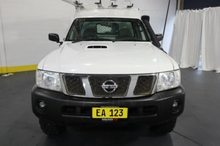 2016 Nissan Patrol Y61 Series 5 MY15 DX White 5 Speed Manual Cab Chassis