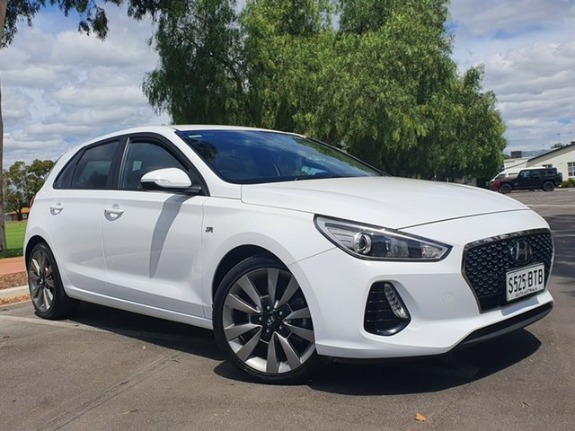Used Hyundai i30 PD MY18 SR D-CT Nailsworth, 2017 Hyundai i30 PD MY18 SR D-CT White 7 Speed Sports Automatic Dual Clutch Hatchback