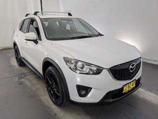 2013 Mazda CX-5 KE1021 MY13 Maxx SKYACTIV-Drive AWD Sport White 6 Speed Sports Automatic Wagon.