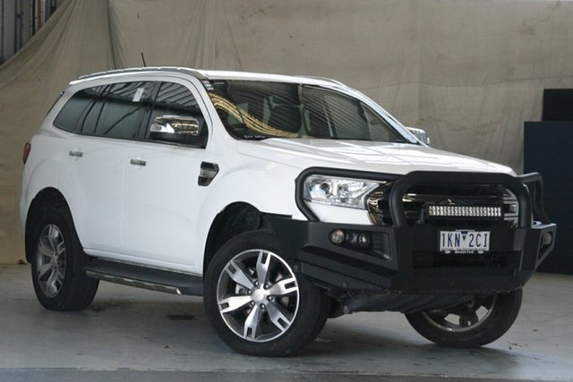 Used Ford Everest UA MY17 Titanium Altona North, 2017 Ford Everest UA MY17 Titanium Arctic White 6 Speed Automatic Wagon