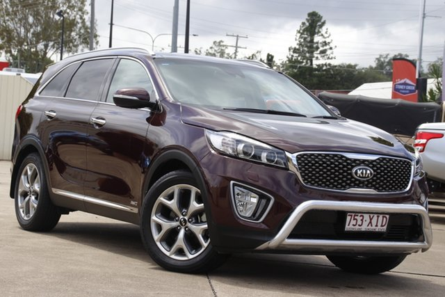 Used Kia Sorento UM MY16 Platinum AWD Bundamba, 2016 Kia Sorento UM MY16 Platinum AWD Maroon 6 Speed Sports Automatic Wagon