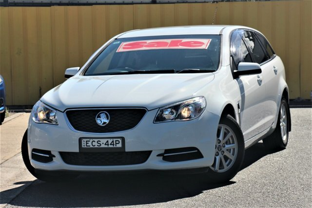 Used Holden Commodore VF MY15 Evoke Sportwagon Cheltenham, 2015 Holden Commodore VF MY15 Evoke Sportwagon White 6 Speed Sports Automatic Wagon