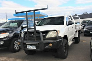 2008 Toyota Hilux GGN25R MY09 SR White 5 Speed Manual Cab Chassis.