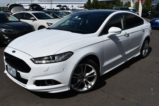 Used Ford Mondeo MD 2017.00MY Titanium Essendon Fields, 2017 Ford Mondeo MD 2017.00MY Titanium White 6 Speed Sports Automatic Hatchback