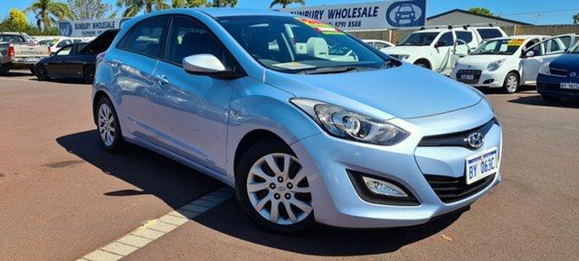 Used Hyundai i30 GD Active East Bunbury, 2012 Hyundai i30 GD Active Blue 6 Speed Sports Automatic Hatchback