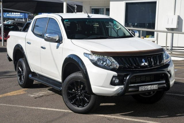 Used Mitsubishi Triton MQ MY17 GLS Double Cab Sports Edition North Gosford, 2017 Mitsubishi Triton MQ MY17 GLS Double Cab Sports Edition White 6 Speed Manual Utility