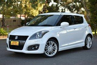 2014 Suzuki Swift FZ MY14 Sport White 7 Speed Constant Variable Hatchback.