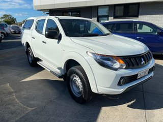 2016 Mitsubishi Triton MQ MY16 GLX Double Cab White 5 Speed Sports Automatic Utility.