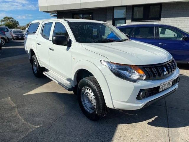 Used Mitsubishi Triton MQ MY16 GLX Double Cab Hillcrest, 2016 Mitsubishi Triton MQ MY16 GLX Double Cab White 5 Speed Sports Automatic Utility