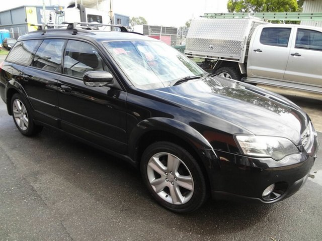 Used Subaru Outback MY04 2.5i AWD Coopers Plains, 2004 Subaru Outback MY04 2.5i AWD Black 4 Speed Auto Elec Sportshift Wagon
